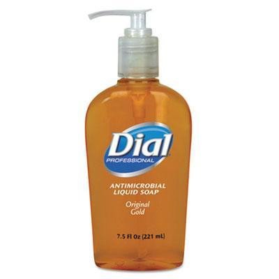Case of Dial Professional Gold Antimicrobial Soap, 7.5oz Pump Bottles