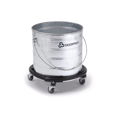 Galvanized Metal Bucket w/ Bumper