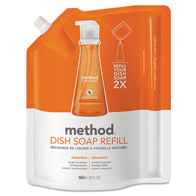 Method® Dish Soap 36 Oz Bulk Pump Refill - Clementine Scent