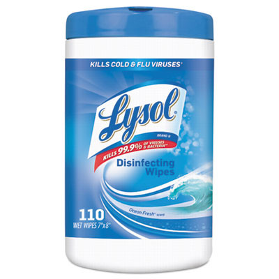 """Lysol® Ocean Fresh Scent Disinfecting Wipes (7"""" x 8"""" 