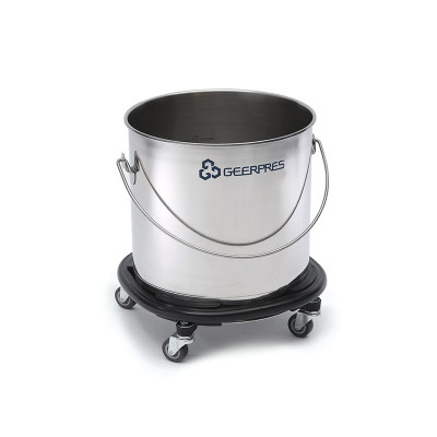 Stainless 11 Gallon Bucket w/ Bumper