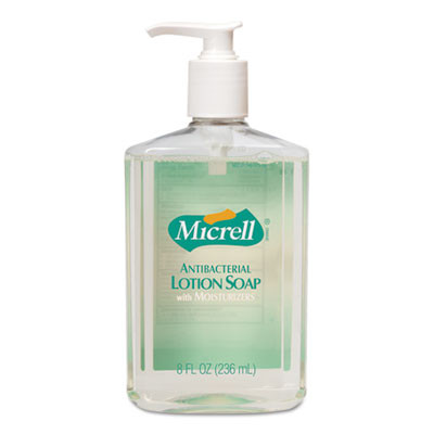 Micrell Antibacterial Lotion Soap, Light Scent, 8oz Pump, 12/carton