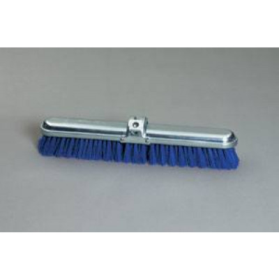 "14"" Blue Stiff Polypropylene Deck Scrub Brush"