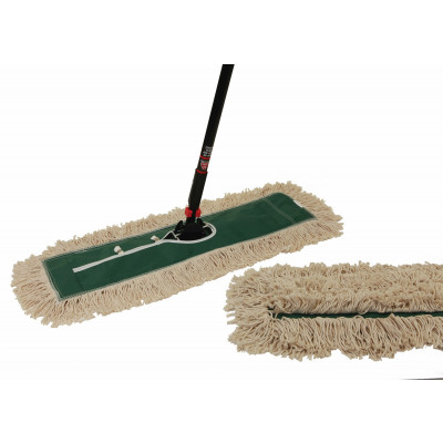 24' MaxiDust Cotton Cut-End Dry Dust Mop Kit