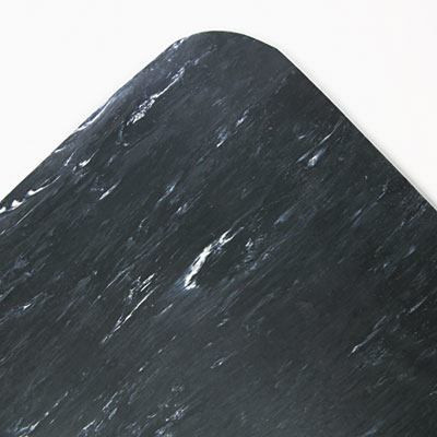 Marbleized Black 36 x 60 Cushion-Step Mat