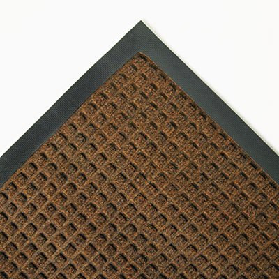 Dark Brown 34 x 58 Super-Soaker Wiper Mat w/Gripper Bottom