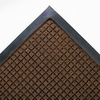 Dark Brown 45 x 68 Super-Soaker Wiper Mat w/Gripper Bottom