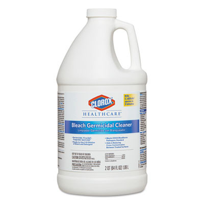Case of Clorox Hospital Cleaner Disinfectant with Bleach 2 Quart Refills
