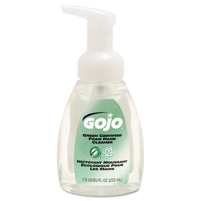 Green Certified Foam Soap, Fragrance-Free, Clear, 7.5 Oz. Pump Bottle