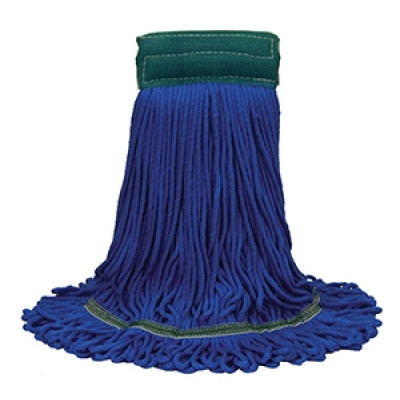 Large MaxiPlus® Microfiber Loop-End Blue Mop (Case of 12)