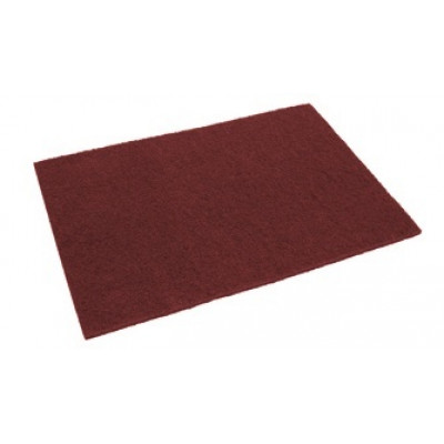 14 x 28 inch Eco-Prep Maroon Dry Floor Stripping Pads