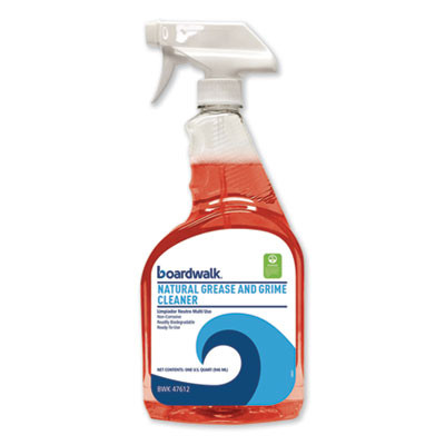 Boardwalk Green Grease And Grime Cleaner, 32 Oz Spray Bottle