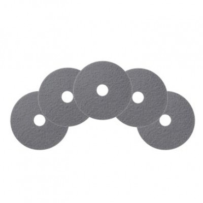 "Case of 13"" Gray Marble Floor Conditioning Pads"