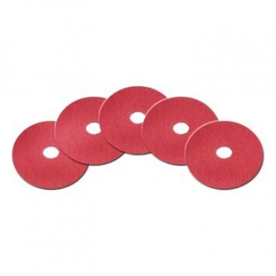 13 inch Red Commercial Floor Buffing Pad