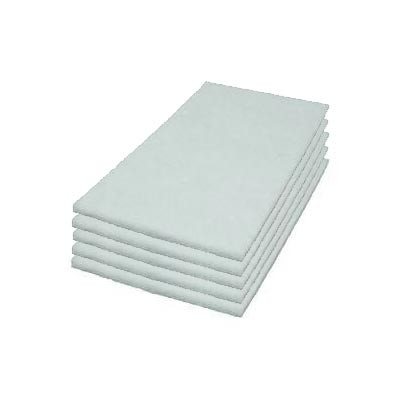 14 x 28 inch White Rectangle Floor Polishing Pads - Case of 5