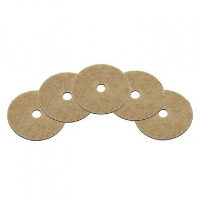 "17"" CocoPad® Coconut Fiber Floor Burnishing Pads - Case of 5"