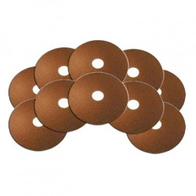 6-1/2 inch Brown Round Floor Stripping Pads