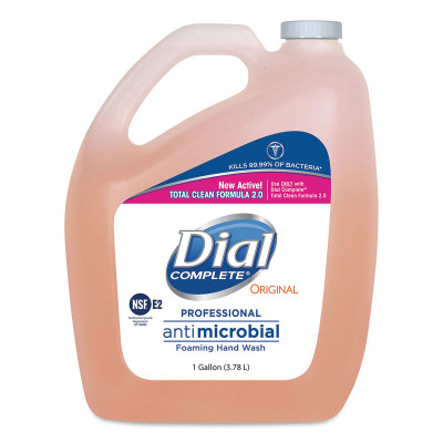Case of Dial Antibacterial Foaming Hand Soap, 1 Gallon Bottles