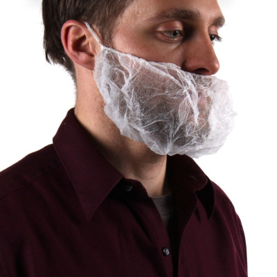 Disposable Polypropylene Beard Covers (1 Size Fits All) - Case of 1000