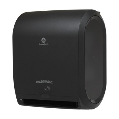 "Georgia Pacific enMotion® Black 10"" Automated Touchless Roll Paper Towel Dispenser"