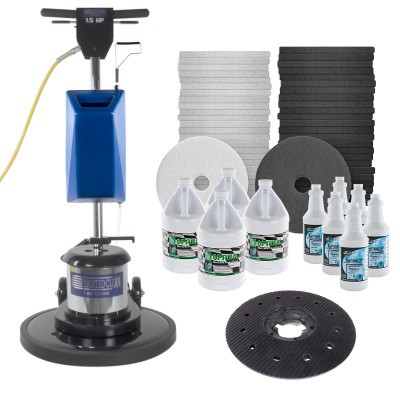 Trusted Clean Floor Buffer Package with Stripping Accessories