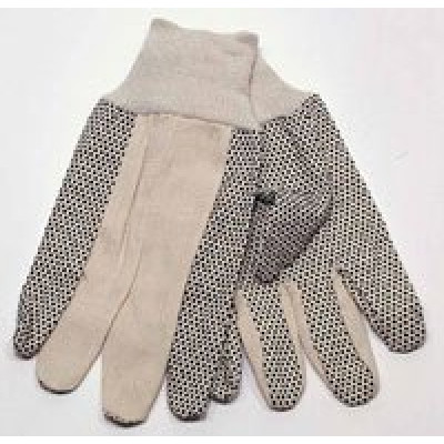 Cotton Canvas with PVC Palm Gloves
