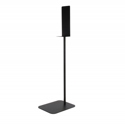 48 inch Tall Black Powder Coated Hand Sanitizer Dispenser Stand - Side