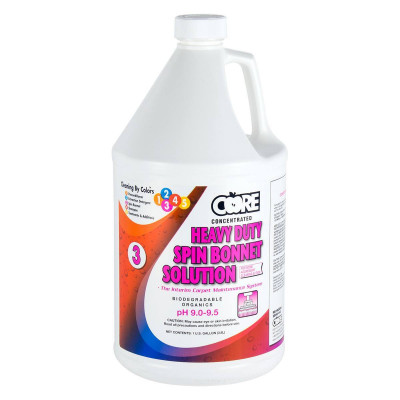 Core Heavy Duty Spin Bonnet Solution - 4 Gallons