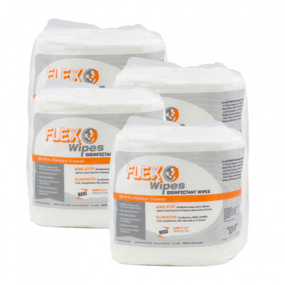 Hospeco® FLEX® Wipes Disinfectant Wipes (7 x 8 inch | 75 Wipe Canisters) - Case of 6