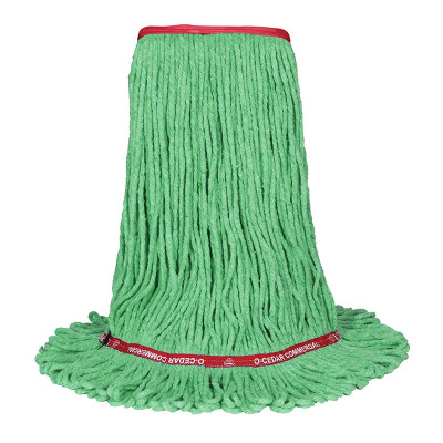Large Green Wet Mop - Looped Narrow Band