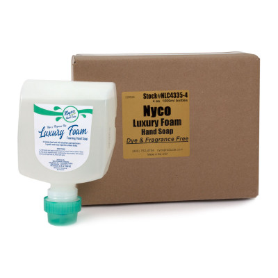 Nyco® Luxury Foam Dye and Fragrance Free Hand Soap (1000 ml Bottles) - Case of 4