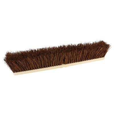 "O'Cedar® 18"" Economical Palmyra Rough Sweep Push Broom Heads (#27099-6) w/ Optional Handles & Support Brackets - 6 Pack"