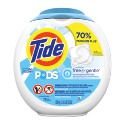 Free & Gentle Laundry Detergent, Pods, 72/pack