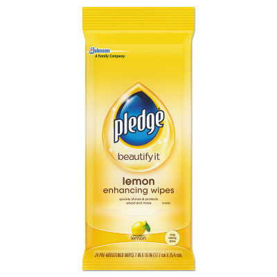 Case of Pledge Lemon Scent Wet Wipes