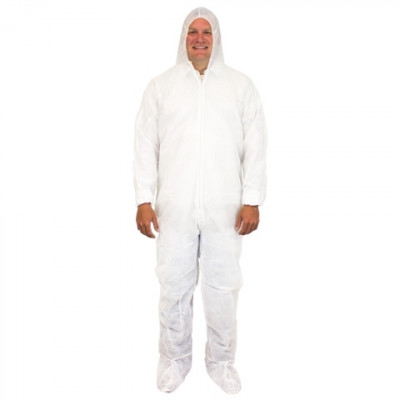 Cleanroom Suit with Feet & Hood