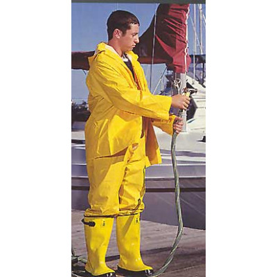 Yellow Heavy Duty Polyester Rain Suit
