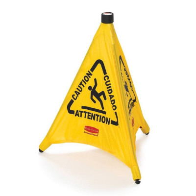 Rubbermaid Pop-Up Caution Floor Sign