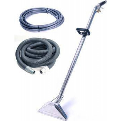 "Sandia Sniper Stainless Steel 12"" Dual Jet Wand w/ 25' Vac & Solution Hoses"