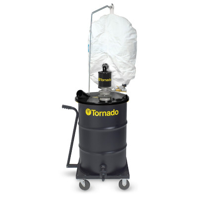 Tornado® Wet & Dry Single External Filter Vacuum - Air Powered