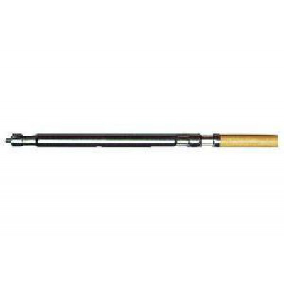 One Piece Wood & Steel Push Broom Handle