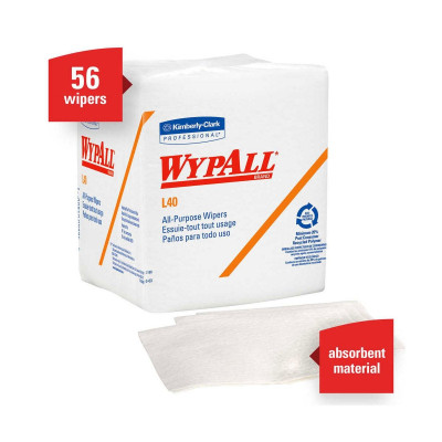WYPALL L40 Disposable White Towels in Fold Pack - 05701