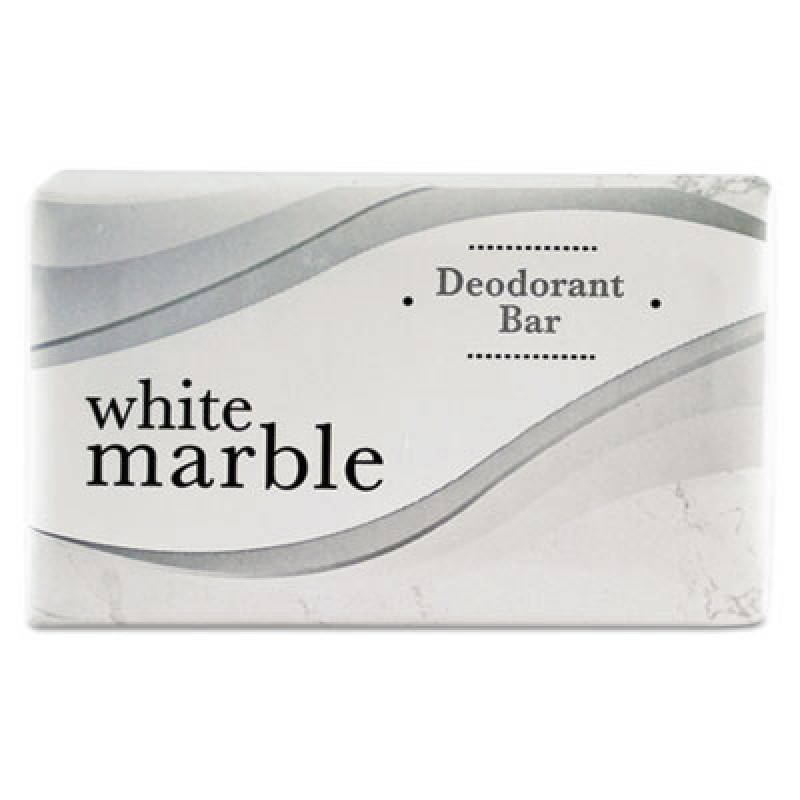 White Marble Individually Wrapped Deodorant Bar Soap