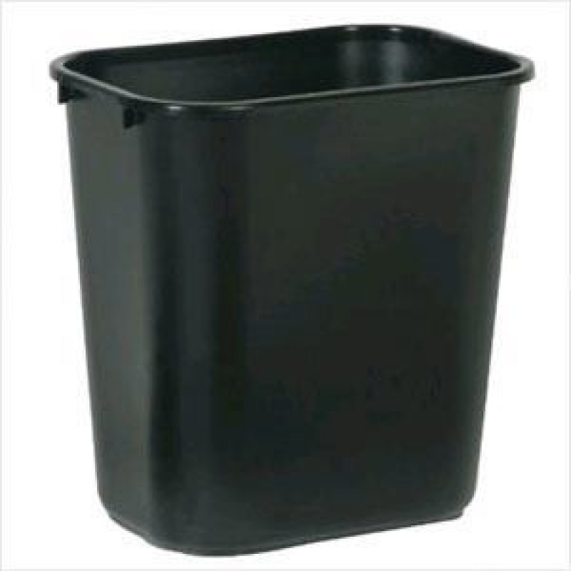 Black Waste Basket Medium 28 1 8 Qt