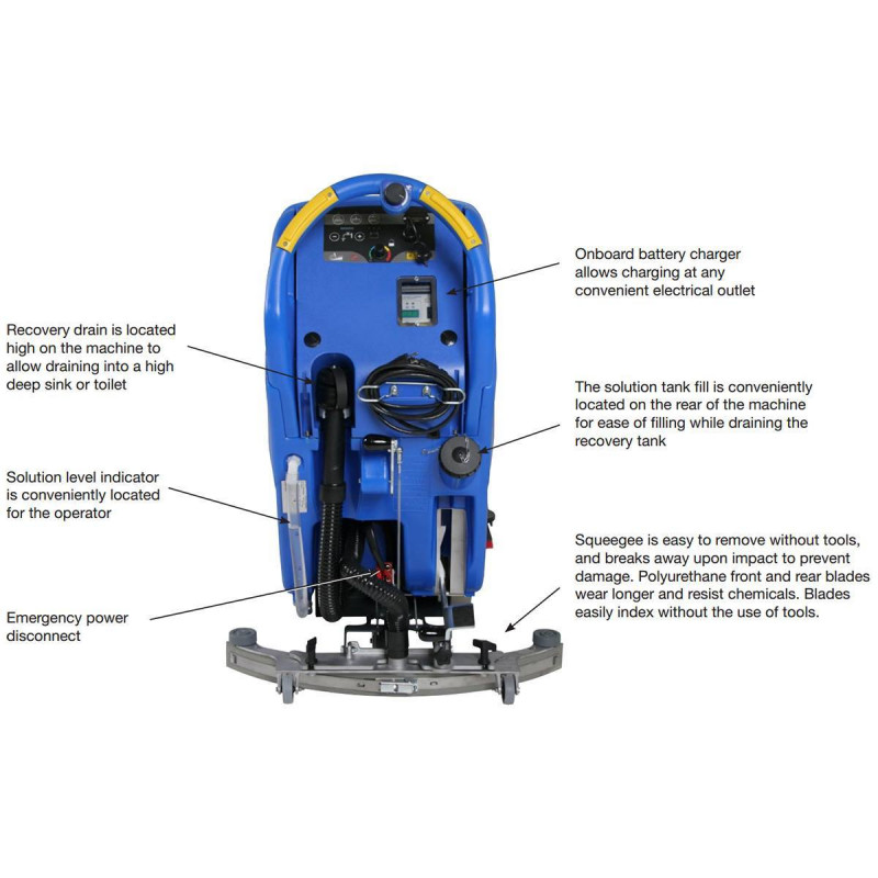 Clarke Focus II Orbital Inch Auto Scrubber - How to use a floor scrubber machine