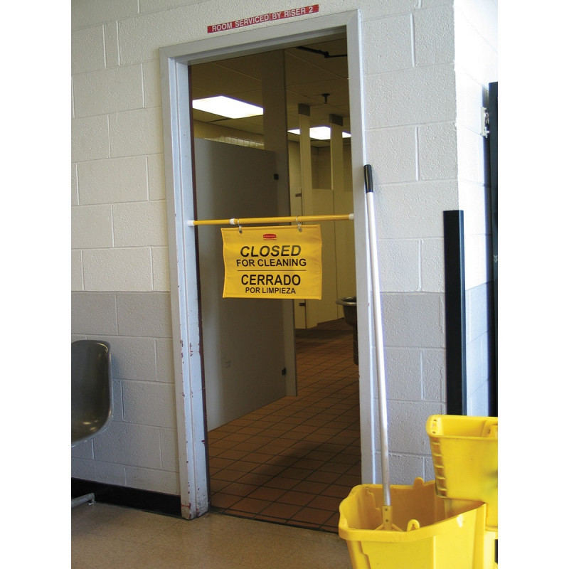 . Rubbermaid Hanging  Closed for Cleaning  Safety Sign