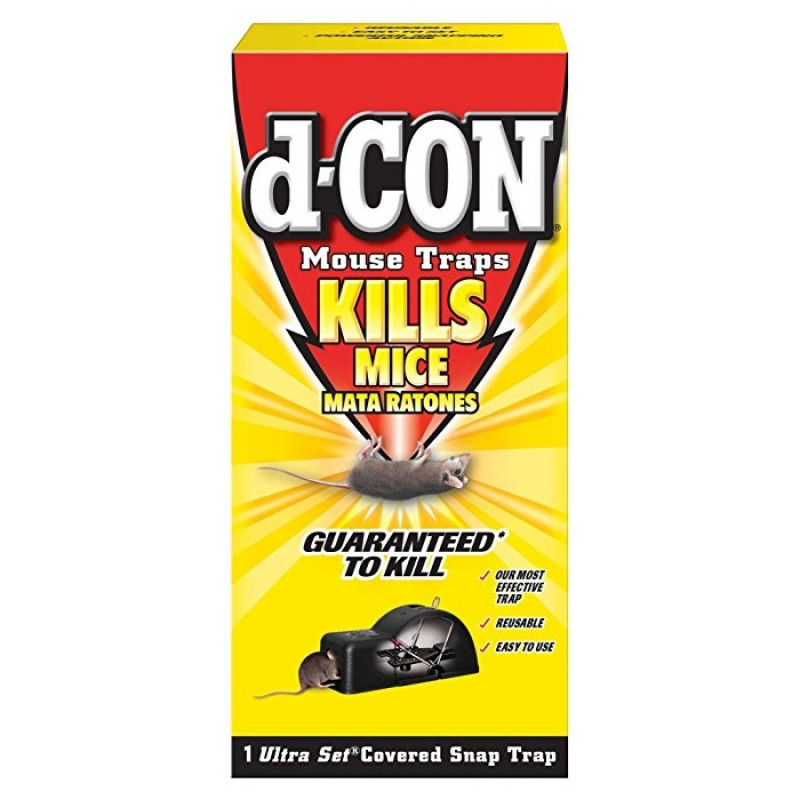 D Con 174 Ultra Set 174 Covered Mouse Snap Trap Killing Device