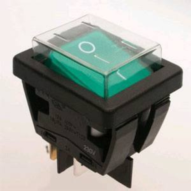 Green Rocker Switch For Carpet Extractors 2 Position
