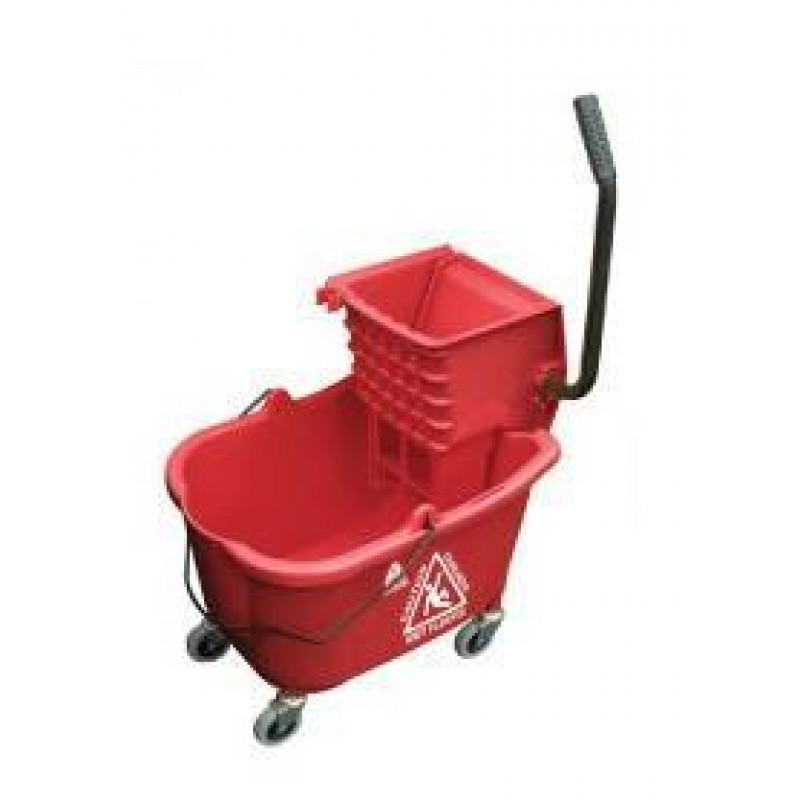 Red Hospital Bathroom Mop Bucket