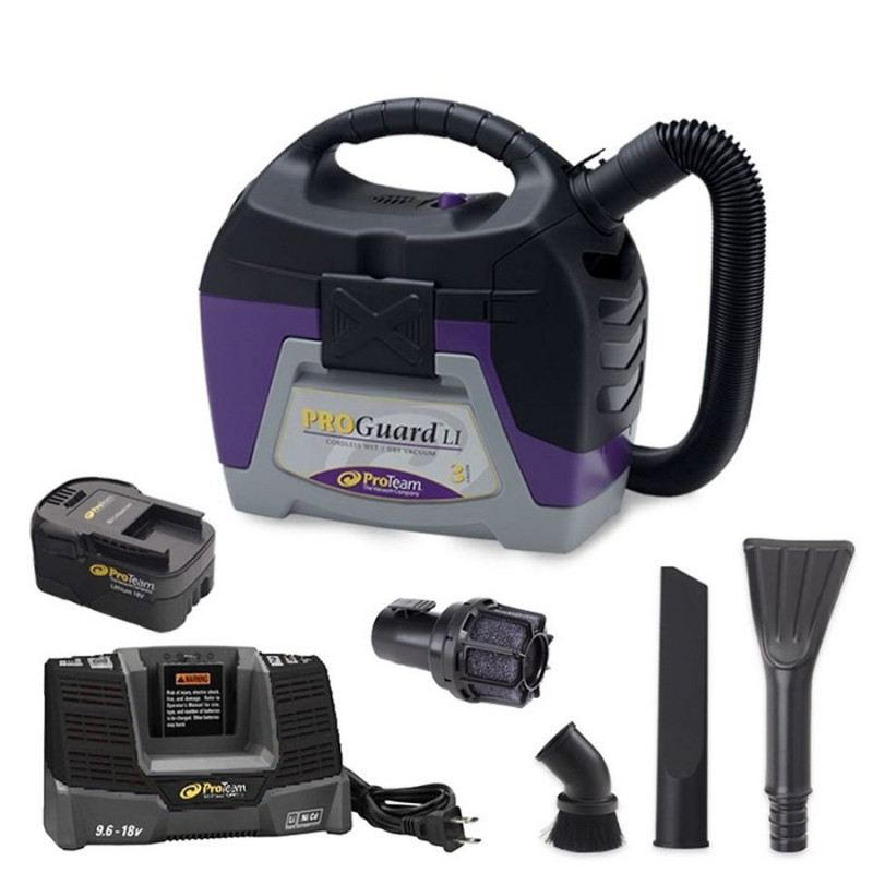 Proteam 174 Proguard Battery Powered Wet Dry Vacuum 3 Gallon