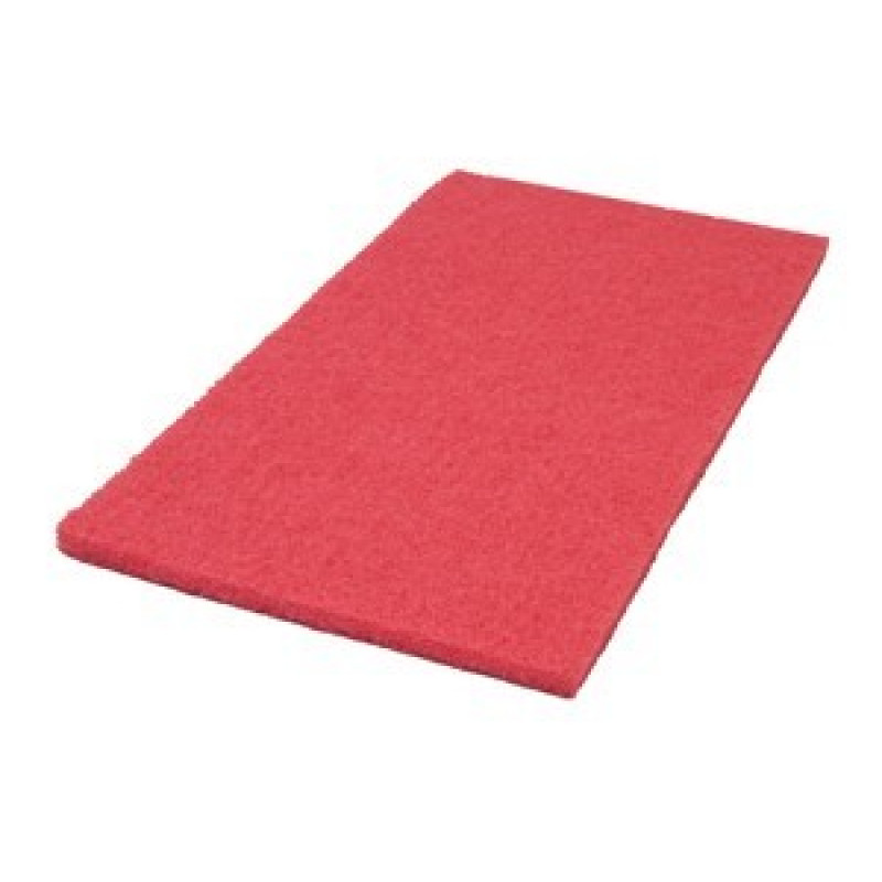 14 X 28 Inch Red Floor Buffing Pads